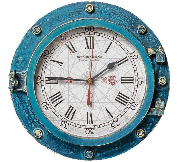 Relógio Escotilha decorativa - Náutica - New Gate Clock