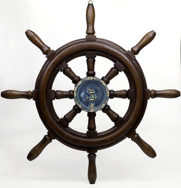 Timão de barco decorativo em Resina 50cm