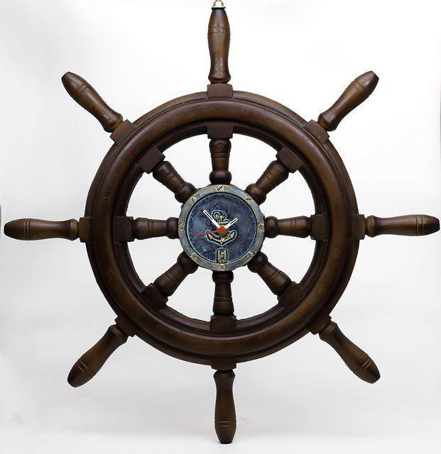 Timão Relógio de barco decorativo em Resina 50cm