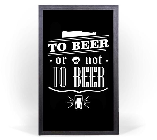 Quadro Porta Tampinhas Grande - To Beer