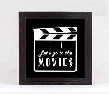 Quadro Porta Moedas Quadrado - Go to movies