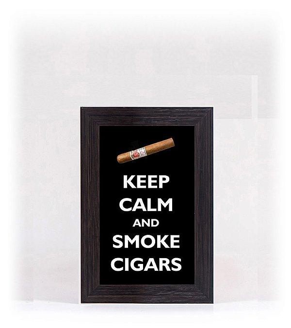 Quadro Porta Anílha Mini - Cigar Black