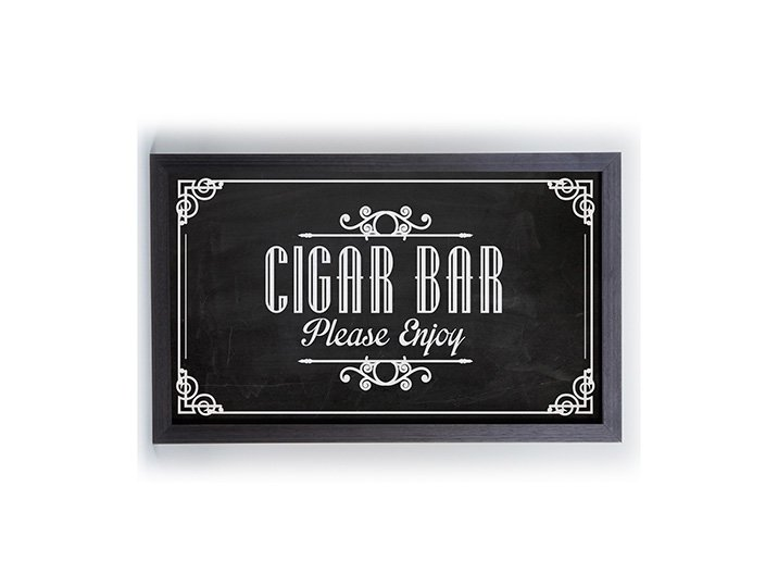Quadro Porta Anílha Textura Pequeno - Cigar Bar