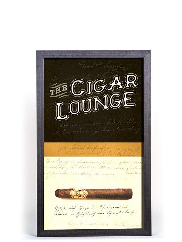 Quadro Porta Anílha Textura Pequeno - Cigar Lounge