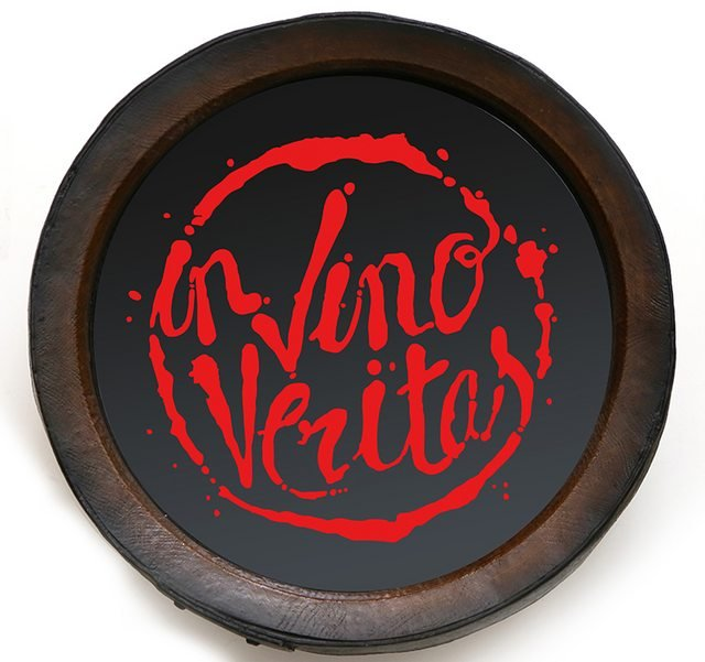 Quadro KG Porta Rolhas Redondo In Vino - Grande - Vermelho