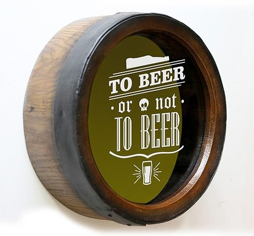 Quadro KG Porta Tampas Redondo To Beer or Not - Grande