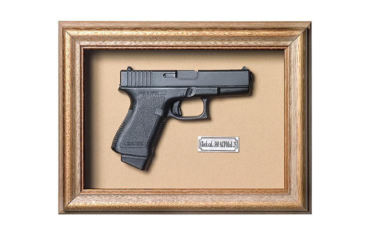 Quadro de Arma Resina KG Glock cal. .380 ACP-Mod. 25 - Clássico