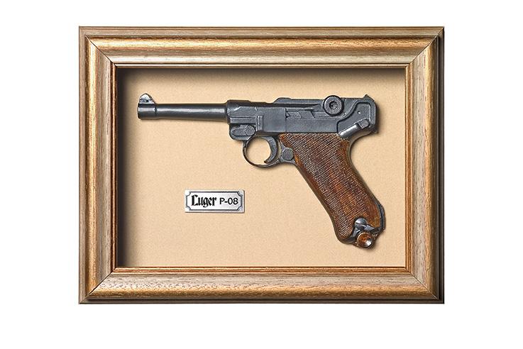 Quadro de Arma Resina KG Luger P 08 - Clássico