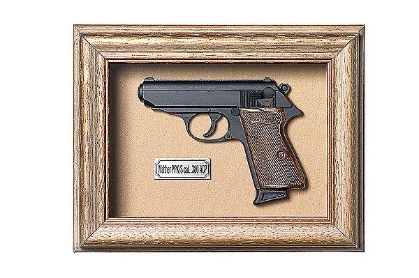 Quadro de Arma Resina KG Walther PPK/S cal. .380 ACP - Clássico