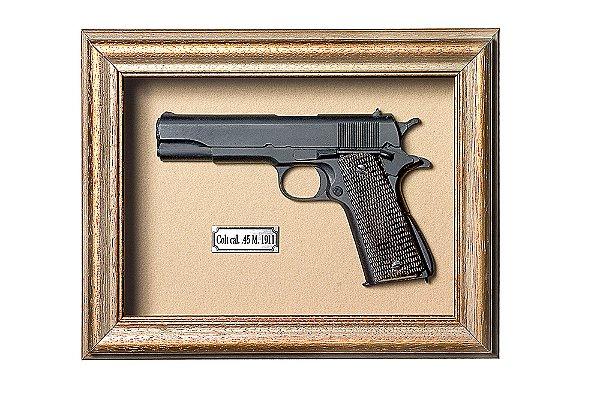 Quadro de Arma Resina KG Colt cal. 45 M. 1911 - Clássico