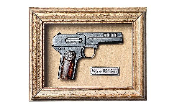 Quadro de Arma Resina KG Dreyse mod 1907 cal. 7.65mm - Clássico
