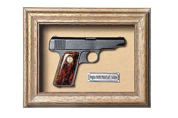 Quadro de Arma Resina KG Ortigies Pocket Pistol cal. 7,65mm - Clássico