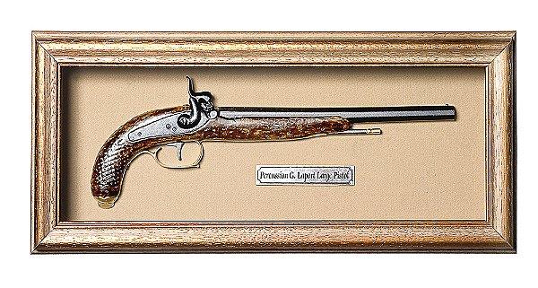 Quadro de Arma Resina KG Percussion G. Laport Large Pistol - Clássico