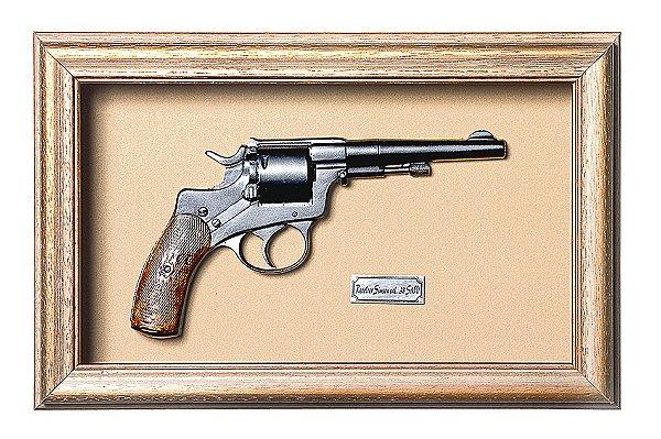 Quadro de Arma Resina KG Revolver Simson Cal. .38 S&W - Clássico