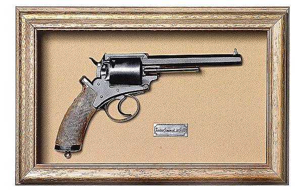 Quadro de Arma Resina KG Adams Revolver - Clássico