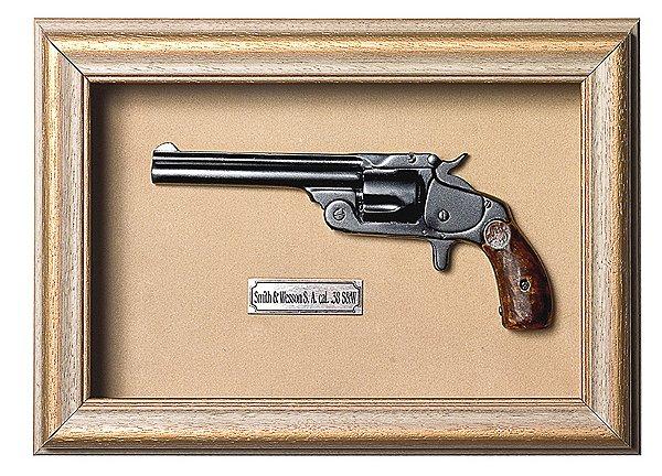 Quadro de Arma Resina KG Smith & Wesson S.A. cal. .38 S&W - Clássico