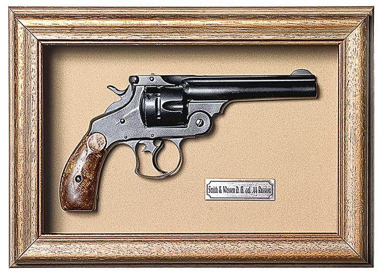 Quadro de Arma Resina KG Smith & Wesson D.A. cal. .44 Russian - Clássico