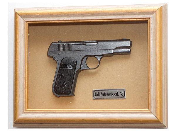 Quadro de Arma Resina KG Colt Automatic - Clássico