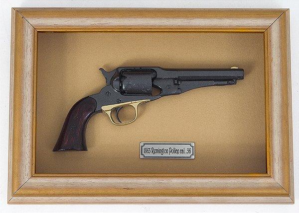 Quadro de Arma Resina KG 1863 Remington Police cal. .36 - Clássico