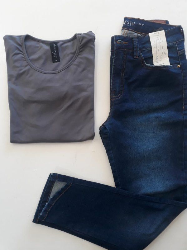 blusa manga longa cinza