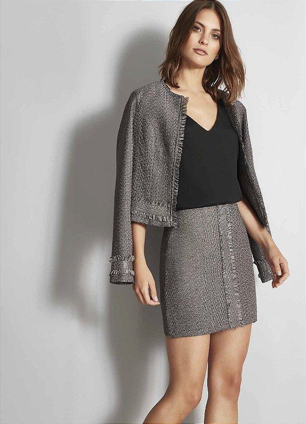 4328ae5445 conjunto casaco em tweed fato básico - Sonho de Maria boutique