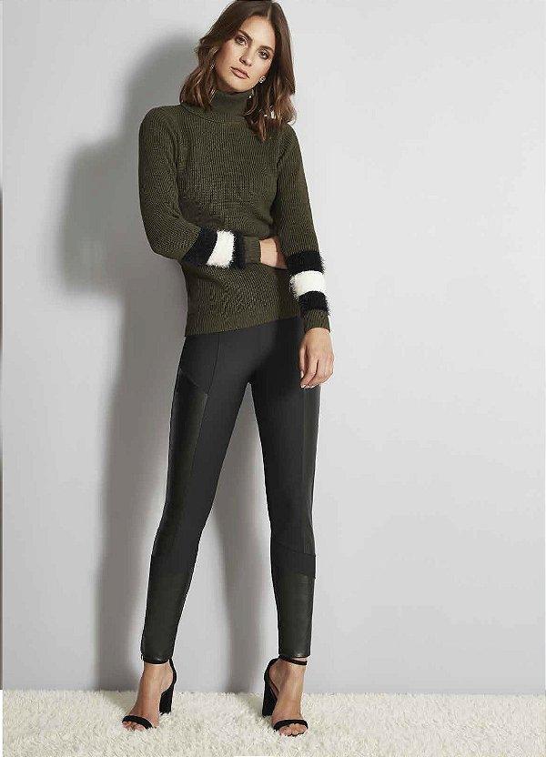 calça montaria preta skinny