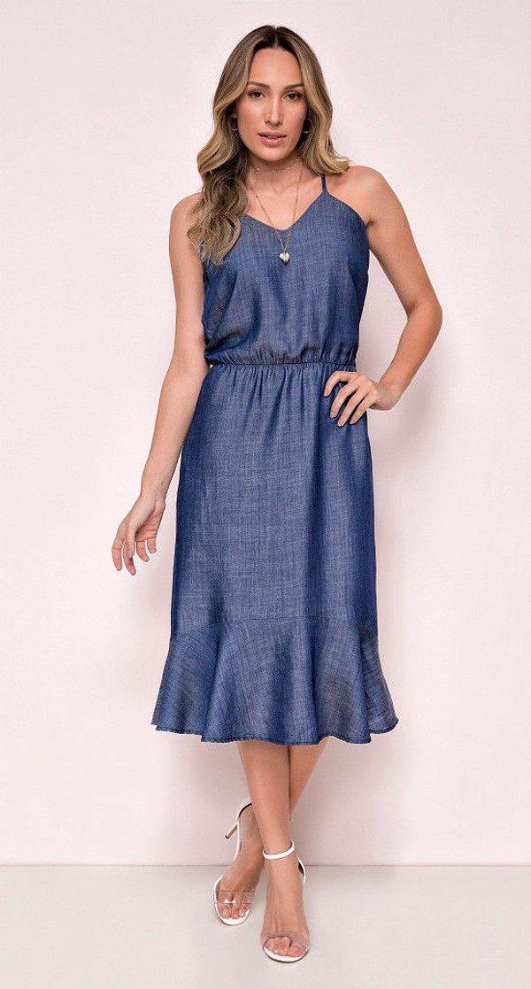 Vestido Midi Jeans Liocel