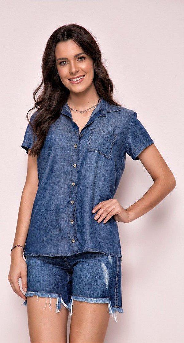 camisa manga curta  jeans Zait