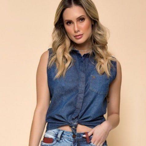 Blusa jeans regata