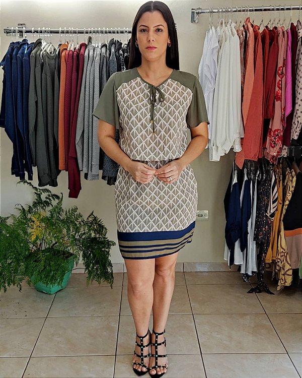 Vestido Mix de estampas