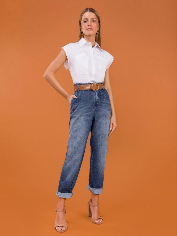 calça jeans baggy