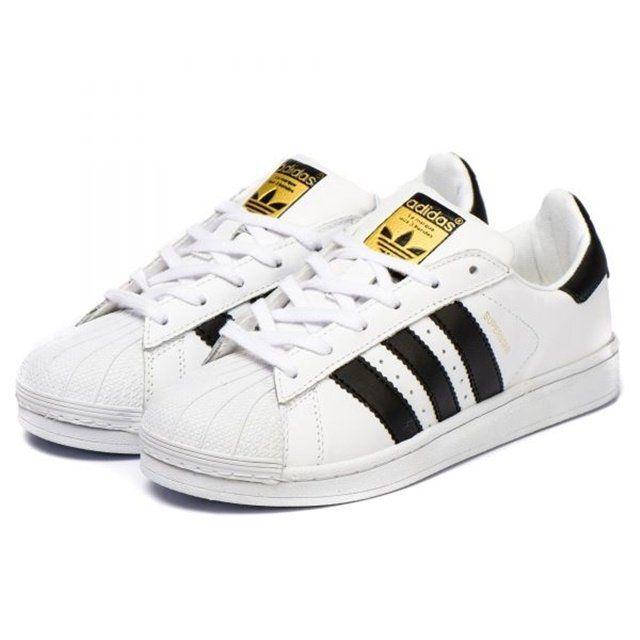 Tênis Adidas Superstar Foundation Branco/Preto - Importado