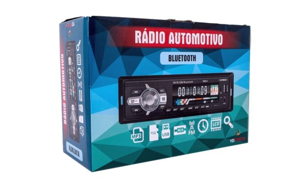 Som Automotivo Bluetooth Carro  Mp3 Pen Drive Sd YD TECH