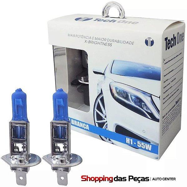 Kit Lampada Super Branca H1 55w 12v 8500k Tech One