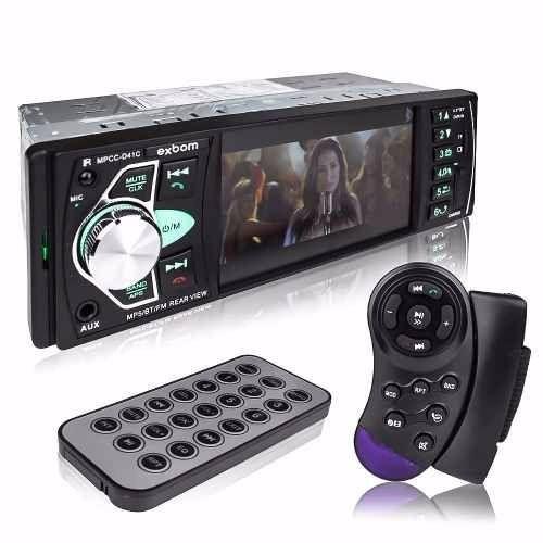 Mp3 Player Automotivo Bluetooth Tela 4 Mp5 Usb Con Volante