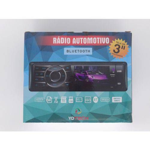Rádio Automotivo Ydtech Bluetooth