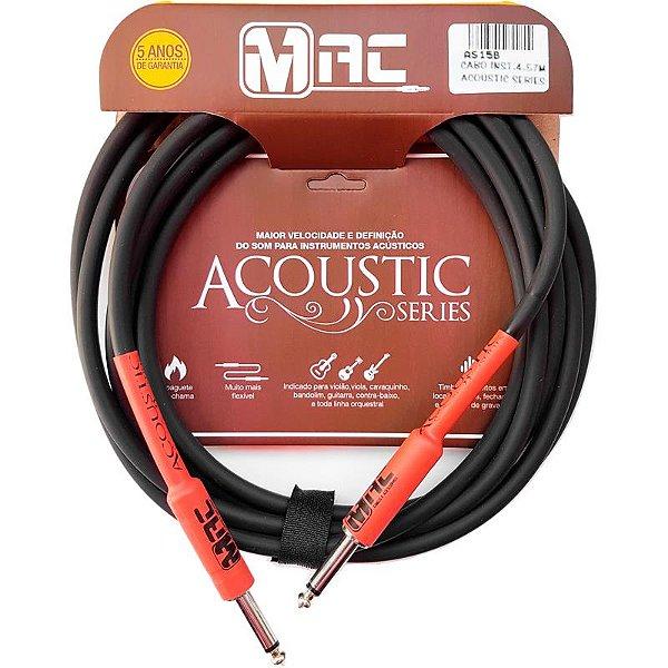 Cabo Para Instrumentos Mac Cabos Acoustic Series 4,57m P10 Reto