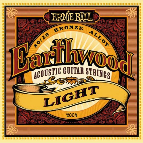 Encordoamento Violão Aço 011 Ernie Ball Earthwood 2004 Light 80/20