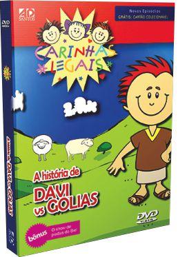 DVD Histórias da Bíblia Carinhas Legais - Davi e Golias