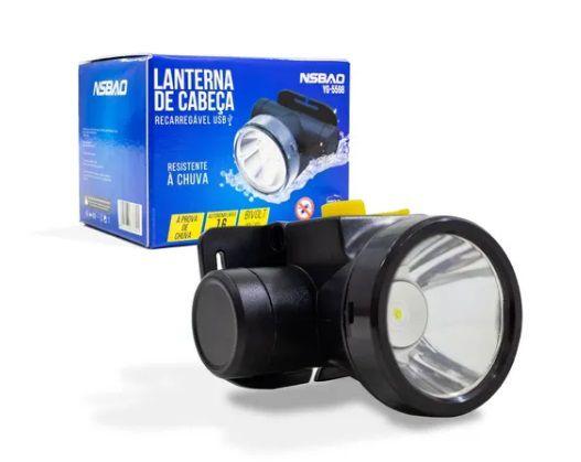 Lanterna Led Cabeça Recarregável Resistente à Chuva YG-5598