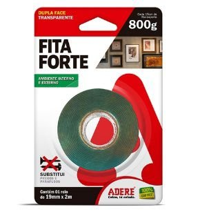 Fita Dupla Face Extra Forte Adere 19mm x 2m