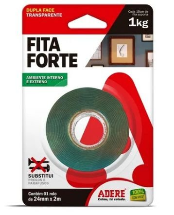 Fita Dupla Face Extra Forte Adere 24mm x 2m