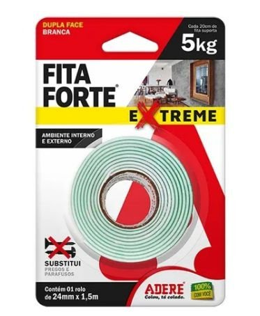 Fita Dupla Face Forte Adere Extreme  24mm x 1,5m