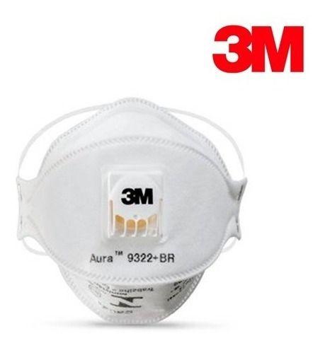Respirador PFF-2 AURA c/válvula 9322+BR 3M