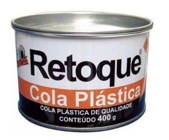 Massa Plastica Retoque Cinza 400g