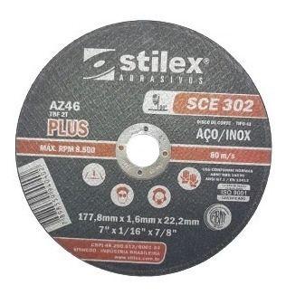 """Disco de Corte Fino 7"""" x 1,6mm x 22,2mm Stilex"""
