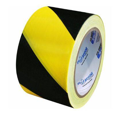 Fita Zebrada Preta e Amarela PLASTCOR