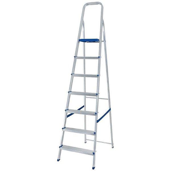 Escada Aluminio Domestica 7 degraus Mor