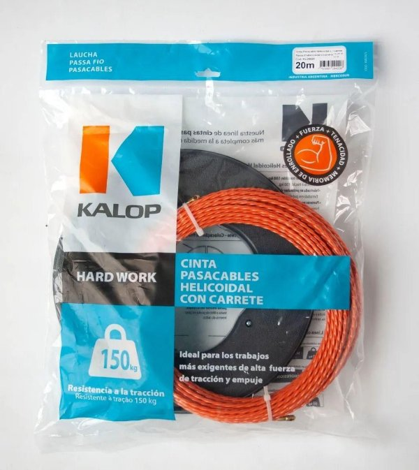 Passa Fio Helicoidal Hard Work 20mts c/Carretel Kalop