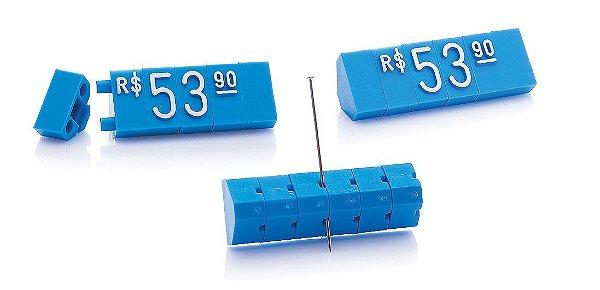 Kit de Preços (510 Peças) - Azul com Branco